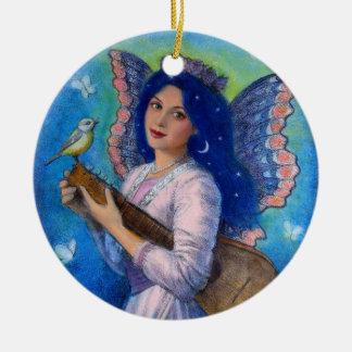 Pájaro cantante para un ornamento del navidad del adorno