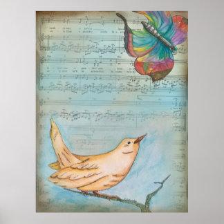 Pájaro cantante póster