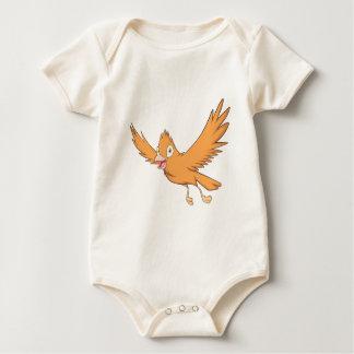 Pájaro cardinal feliz mameluco de bebé