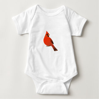 Pájaro cardinal masculino body para bebé