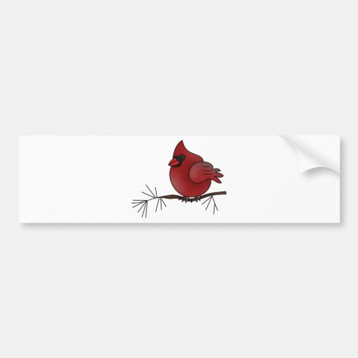 pájaro cardinal pegatina para auto
