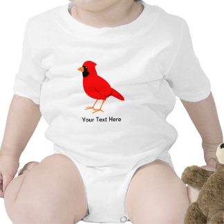 Pájaro cardinal rojo septentrional camisetas