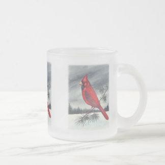 Pájaro cardinal taza
