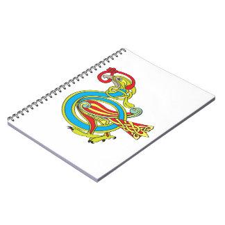 Pájaro céltico cuaderno