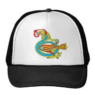 Pájaro céltico gorras de camionero