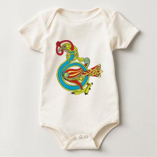 Pájaro céltico mameluco de bebé