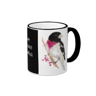 Pájaro color de rosa de Breasted, pájaro, Taza De Dos Colores
