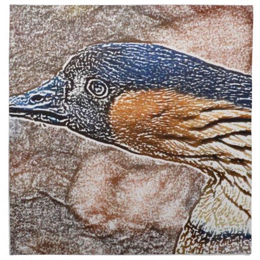pájaro coloreado ganso enojado del lápiz servilleta