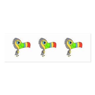 Pájaro colorido de Toucan Tarjetas De Visita Mini