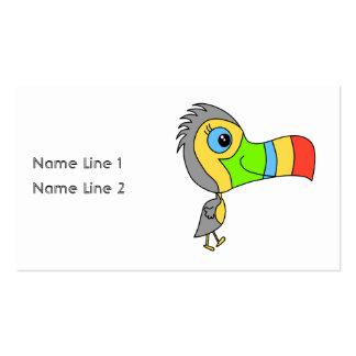Pájaro colorido de Toucan Tarjetas De Visita