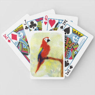 Pájaro colorido del Macaw Cartas De Juego