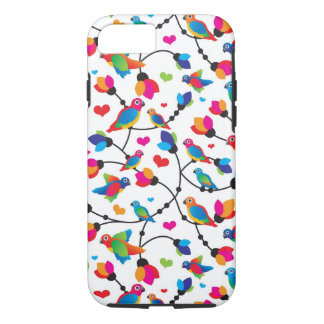 pájaro colorido lindo del loro funda iPhone 7