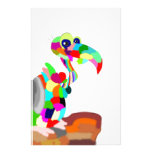 pájaro colorido papelería personalizada