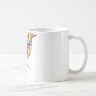 Pájaro colorido taza de café
