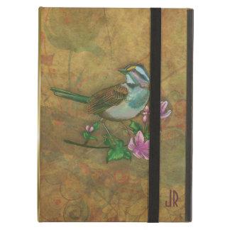 Pájaro colorido trasero de Brown del Grunge de Mon