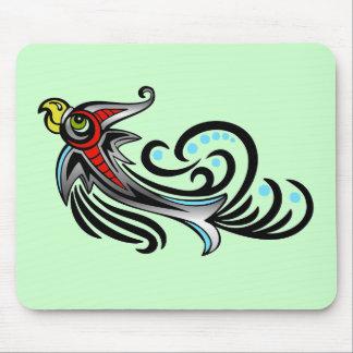 Pájaro colorido tribal Mousepad