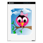 Pájaro con el arco punteado polca iPad 2 calcomanías