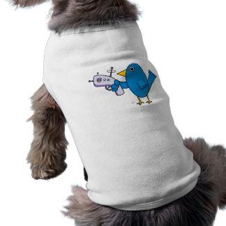 Pájaro con Raygun - camisetas sin mangas del masco Ropa Perro