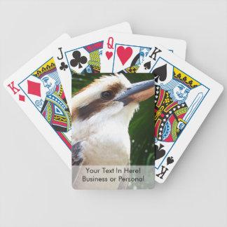 pájaro contra Kookaburra verde Baraja Cartas De Poker
