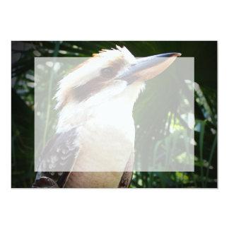 """pájaro contra Kookaburra verde Invitación 5"""" X 7"""""""