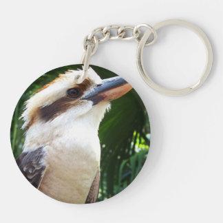 pájaro contra Kookaburra verde Llavero Redondo Acrílico A Doble Cara