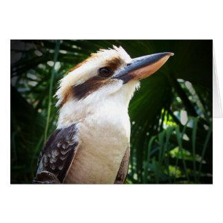 pájaro contra Kookaburra verde Tarjeta Pequeña