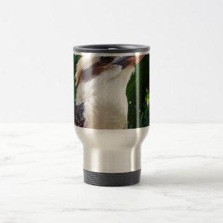 pájaro contra Kookaburra verde Taza De Viaje De Acero Inoxidable