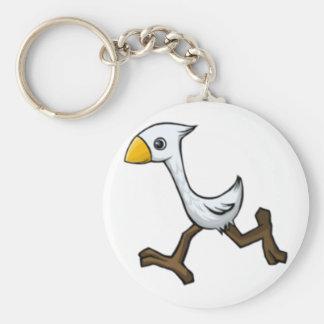 Pájaro corriente llavero redondo tipo pin