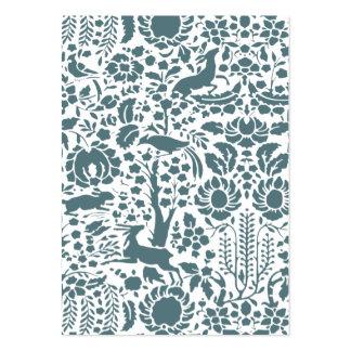 Pájaro, damasco floral de los ciervos tarjetas de negocios
