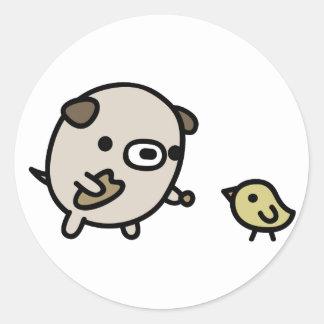 Pájaro de alimentación del perro pegatina