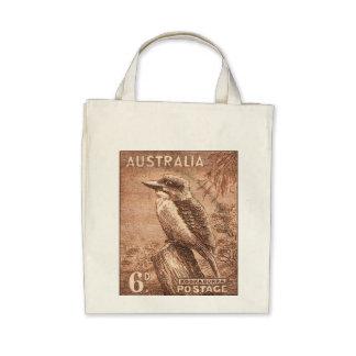 Pájaro de Australia Kookaburra del vintage Bolsa De Mano
