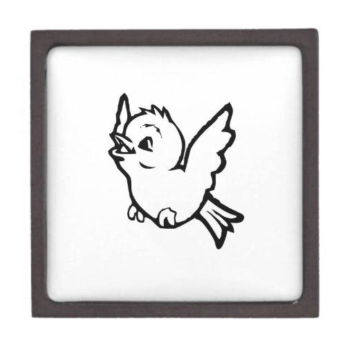 Pájaro de bebé del dibujo animado cajas de recuerdo de calidad