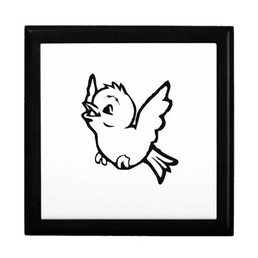 Pájaro de bebé del dibujo animado caja de recuerdo