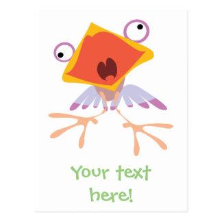 Pájaro de bebé divertido postal