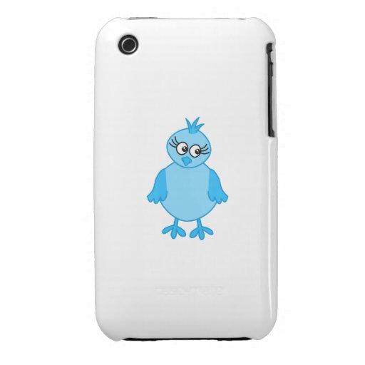 Pájaro de bebé lindo, azul iPhone 3 Case-Mate funda