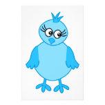 Pájaro de bebé lindo, azul tarjeton