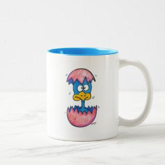 Pájaro de bebé taza