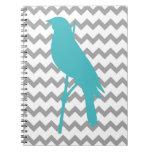 Pájaro de Chevron Cuadernos