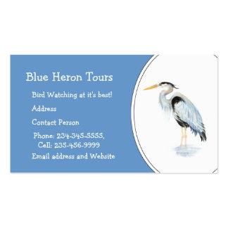 Pájaro de encargo de la garza de gran azul de la a tarjeta personal