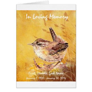 Pájaro de encargo del Wren de la acuarela del prog Tarjeta De Felicitación