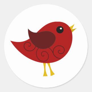Pájaro de enero Birthstone Pegatina Redonda