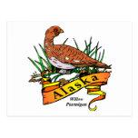 Pájaro de estado de Alaska - perdiz nival del Postal