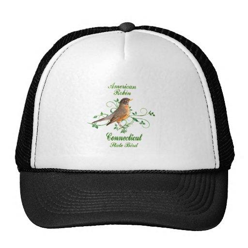 Pájaro de estado de Connecticut del petirrojo Gorros