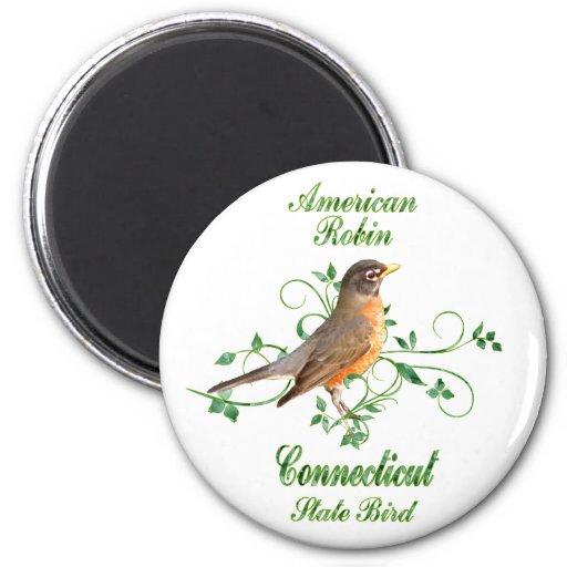 Pájaro de estado de Connecticut del petirrojo Imán De Frigorífico