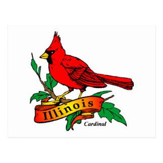 Pájaro de estado de Illinois - cardenal Tarjeta Postal