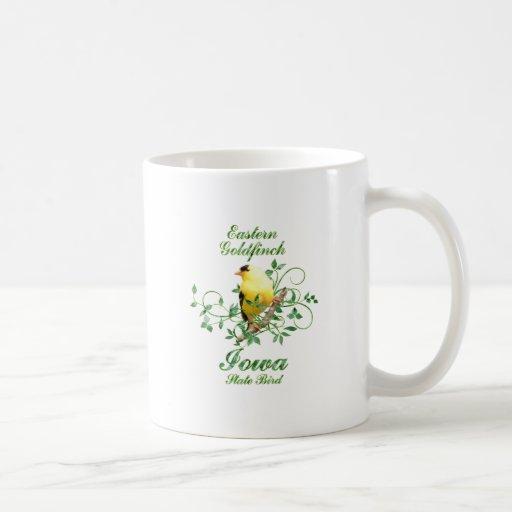 Pájaro de estado de Iowa del Goldfinch Taza De Café