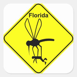 Pájaro de estado de la Florida el mosquito Colcomanias Cuadradas