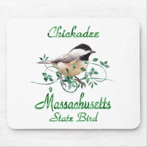 Pájaro de estado de Massachusetts del Chickadee Tapetes De Ratón