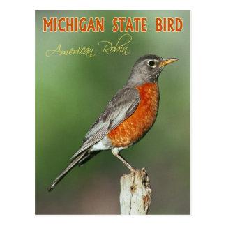 Pájaro de estado de Michigan - petirrojo americano Tarjetas Postales
