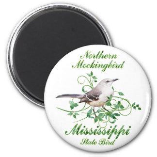 Pájaro de estado de Mississippi del Mockingbird Imanes De Nevera